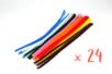 Chenilles ø 6 mm - 30 cm - couleurs assorties -Set de 24 - Chenilles, cure-pipe 02318 - 10doigts.fr