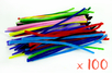 Chenilles colorées 50 cm - Ø 6 mm - Set de 100 - Chenilles, cure-pipe 08458 - 10doigts.fr