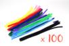 Chenilles ø 9 mm - 50 cm, couleurs assorties- Set de 100 - Chenilles, cure-pipe 08459 - 10doigts.fr