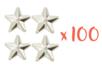 Clous étoiles Argentés - 100 pièces (4 sets) - Rivets clous à griffe 19293 - 10doigts.fr