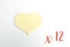 Coeur en bois naturel 6 x 4.8 cm - Epaisseur : 3 mm - 12 pièces - Motifs brut 06195 - 10doigts.fr