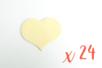 Coeur en bois naturel 6 x 4.8 cm - Epaisseur : 3 mm - 24 pièces - Motifs brut 06486 - 10doigts.fr