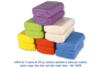 Coffret de 12 pains de 250 gr de pâtes à modeler, 6 couleurs de base assorties : jaune, rouge, bleu clair, vert clair, violet et blanc    - Pâtes à jouer 04836 - 10doigts.fr