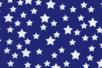 Coupon de tissu en coton imprimé (43 x 53 cm) -Etoile blanche sur fond bleu - Coupons de tissus 30166 - 10doigts.fr