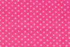Coupon de tissu en coton imprimé (43 x 53 cm) - Pois blanc sur fond rose - Coupons de tissus 13898 - 10doigts.fr