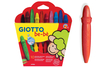 Crayons cire incassables Giotto + 1 taille crayons OFFERT - Pochette de 10 crayons - Crayons cire 04397 - 10doigts.fr