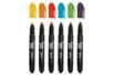Crayons cire pour vitres et fenêtres - 6 couleurs vives - Crayons cire 13475 - 10doigts.fr