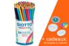 Crayons Giotto Colors 3.0 - Pot de 84 crayons + CADEAU 12 toupies à colorier - Crayons de couleurs 12712 - 10doigts.fr
