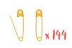 Épingles de sûreté dorées - Lot de 144 - Pin's et broches 03149 - 10doigts.fr