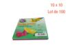 Feuilles carrées 10 x 10 cm - Lot de 100 - Origami - 10doigts.fr