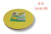 Feuilles rondes ø 15 cm - Lot de 100 - Papiers Origami 14426 - 10doigts.fr