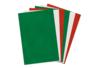 Feutrine 20 x 30 cm - Set de 6 couleurs de Noël assorties - Feutrage 01855 - 10doigts.fr