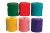 Fils 100% coton, bobines de 28 mètres - 6 couleurs - Fils en coton, échevettes 19267 - 10doigts.fr