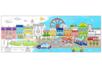 Fresque géante à colorier : La ville - Support pré-dessiné 38002 - 10doigts.fr