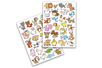 Gommettes animaux rigolos 1 -1 set (2 planches) - Gommettes Animaux 18486 - 10doigts.fr