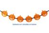 Guirlande de 6 citrouilles en feutrine - Halloween 28022 - 10doigts.fr