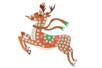 Suspension Renne avec mosaïques - Activités de Noël en kit 27902 - 10doigts.fr
