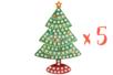 Suspension Sapin avec mosaïques - Lot de 5 - Activités de Noël en kit 27904 - 10doigts.fr