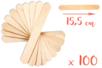 Maxi bâtonnets en bois naturel - Lot de 100 - Bâtonnets, tiges, languettes - 10doigts.fr