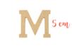 Lettre en bois médium : M - Motifs brut 15015 - 10doigts.fr