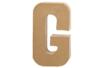 Lettre en carton papier maché G - Lettres et Formes 27706 - 10doigts.fr