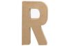 Lettre en carton papier maché R - Lettres et Formes 27717 - 10doigts.fr