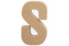 Lettre en carton papier maché S - Lettres et Formes 27718 - 10doigts.fr