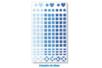 3 sets de 147 stickers mosaïques bleus - Mosaïques plastique 11550 - 10doigts.fr