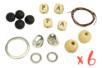 Porte-clés PAPA en perles de lave - Lot de 6 - Porte-clefs, stylo-bille 34155 - 10doigts.fr