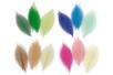 Lot des 4 sets assortis de 20 feuilles de 6 cm en camaïeu de couleurs - Fleurs et feuilles 13406 - 10doigts.fr