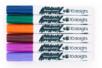 Marqueurs peinture - 6 couleurs complémentaires : bleu foncé, vert foncé, fuschia, orange, brun, violet - Feutres Marqueurs dessin 14725 - 10doigts.fr