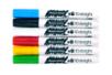 Marqueurs peinture - 6 couleurs de base : rouge, jaune, bleu clair, vert clair, blanc, noir  - Feutres Marqueurs Dessin - 10doigts.fr