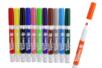 Marqueurs Textiles, couleurs assorties - Boite de 12 - Feutres Marqueurs Textile 02992 - 10doigts.fr