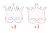 Masques couronnes - Set de 6 - Mardi gras, carnaval 13847 - 10doigts.fr