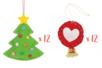 MAXI LOT Suspensions feutrine sapins + boules - Kit de 24 réalisations - Kits activités Noël 38077 - 10doigts.fr