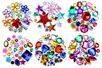 Pack Promo Strass assortis - 6 sets (1550 strass) - Strass 38352 - 10doigts.fr