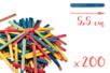 Mini-bâtons d'esquimaux colorés (5,5 cm)- 200 pces - Bâtonnets, tiges, languettes 14929 - 10doigts.fr