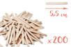 Bâtons d'esquimaux Nature (5,5 cm) - 200 pces - Bâtonnets, tiges, languettes 14927 - 10doigts.fr