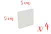 Mini châssis carrés 5 x 5 cm - Lot de 4 - Châssis 11201 - 10doigts.fr