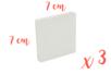 Mini châssis carrés 7 x 7 cm - Lot de 3 - Châssis 03387 - 10doigts.fr