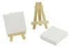 Mini chevalet avec toile - Toiles classiques 11245 - 10doigts.fr