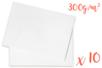 Cartes 300 gr/m² - 50 x 70 cm Blanc - 10 feuilles - Papiers Unis 14160 - 10doigts.fr