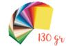 Papiers légers 130 gr/m² 25 x 35 cm - Packs 50 couleurs - Papiers couleurs - 10doigts.fr