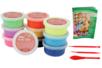 Pâte à modeler Foam Clay couleurs vives assorties - Lot de 10 pots de 38,5 gr - Pâtes à jouer - 10doigts.fr
