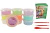 Pâte à modeler Soft Clay couleurs pastels assorties - Lot de 10 pots 40 gr - Pâtes à modeler qui sèchent à l'air 15248 - 10doigts.fr