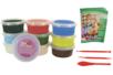Pâte à modeler Soft Clay couleurs vives assorties - Lot de 10 pots de 40 gr - Pâtes à modeler qui sèchent à l'air 15247 - 10doigts.fr