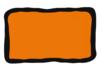 Peinture repositionnable Orange - Flacon 80 ml - Peinture Verre et Faïence 10983 - 10doigts.fr