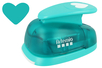 Perforatrice coeur méga Jumbo 3XL - Taille découpe : 7.3 x 6.5 cm - Perforatrices fantaisies 07280 - 10doigts.fr