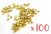Perles à écraser couleur or - 100 pièces - Perles à écraser 02338 - 10doigts.fr