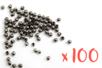 Perles à écraser couleur noir - 100 pièces - Perles à écraser 01655 - 10doigts.fr